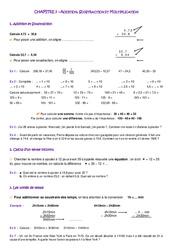 Contrôle - 6ème - Exercices - Mathématiques - Collège