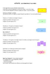 Aire – Périmètre – 6ème – Grandeurs et Mesures – Exercices – Contrôle – Mathématiques – Collège