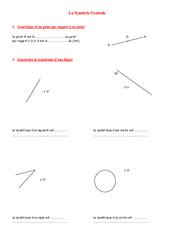 Symétrie centrale – 5ème – Géométrie – Exercices – Contrôle – Mathématiques – Collège