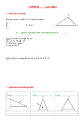 Angles – 5ème – Géométrie – Exercices – Contrôle – Mathématiques – Collège