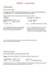 Pourcentage – Echelle - 5ème – Organisation et gestion des données – Exercices – Contrôle – Mathématiques – Collège