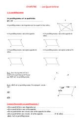 Quadrilatères – 5ème – Géométrie – Exercices – Contrôle – Mathématiques – Collège