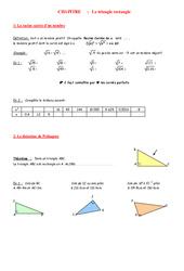 Théorème de Pythagore – 4ème – Géométrie – Exercices – Contrôle – Mathématiques – Collège