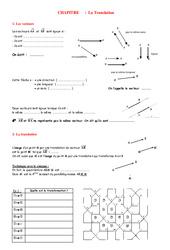 Parallélogrammes – Translations – 4ème – Géométrie – Exercices – Contrôle – Mathématiques – Collège