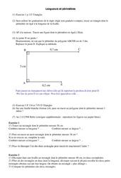 Longueurs – Périmètre – 6ème – Cours – Grandeurs et Mesures – Mathématiques – Collège