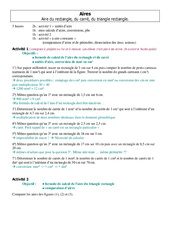 Calcul d'aire - 6ème – Cours – Grandeurs et Mesures – Mathématiques – Collège