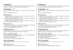 Multiplication jeux – 6ème – Exercices – Calculs – Mathématiques – Collège