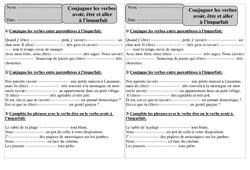 Imparfait - Etre, avoir, aller – Ce1 – Conjugaison – Exercices corrigés – Cycle 2