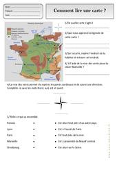 Comment lire une carte – Représenter l'espace – Ce1 – Exercices – Espace temps – Cycle 2