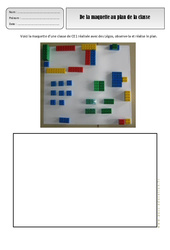De la maquette au plan de la classe – Représenter l'espace – Cp – Ce1 – Exercices – Espace temps – Cycle 2