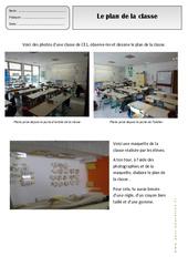 Plan de la classe – Représenter l'espace – Ce1 – Exercices – Espace temps – Cycle 2