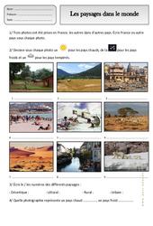 Paysages du monde - Ce1 – Exercices – Espace temps – Cycle 2