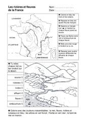 Rivières et fleuves - Ce1 – Exercices – Espace temps – Cycle 2