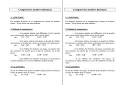Comparer les nombres décimaux – Ce2 Cm1 Cm2 – Leçon