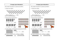 Grouper pour dénombrer - Ce2 Cm1 Cm2 - Leçon