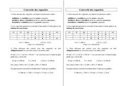 Convertir des capacités – Ce2 Cm1 Cm2 – Leçon