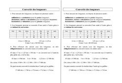 Convertir des longueurs – Ce2 Cm1 Cm2 – Leçon