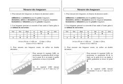 Mesurer des longueurs – Ce2 Cm1 Cm2 – Leçon