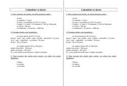Calendrier - Durée - Ce2 Cm1 Cm2 - Leçon - Grandeurs et mesures