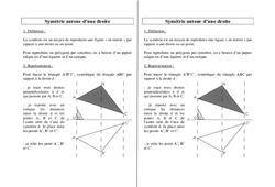 Symétrie autour d'une droite – Ce2 Cm1 Cm2 – Leçon