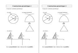 Constructions géométriques – Ce2 Cm1 Cm2 – Leçon