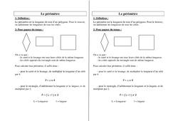 Périmètre – Ce2 – Cm1 – Cm2 – Leçon