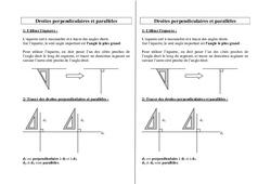 Droites parallèles - Droites perpendiculaires - Ce2 Cm1 Cm2 – Géométrie – Cycle 3