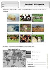 Climats dans le monde – Ce1 – Exercices – Espace temps – Cycle 2