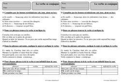 Le verbe se conjugue – Ce2 – Exercices corrigés de grammaire