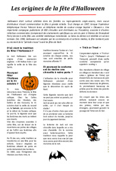 Halloween: Les origines – Lecture compréhension – Cycle 3 – Ce2 – Cm1 – Cm2