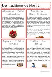 Noël dans le monde - Traditions de Noël - Texte documentaire - Cycle 3 - Ce2 - Cm1 - Cm2