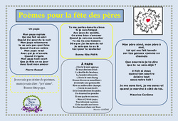 Fête des pères – Poèmes – Cycle 2 – Cycle 3 – Vie de la classe