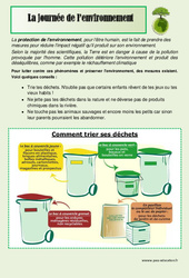 Journée de l'environnement - Dossier pédagogique - Cycle 2- Cycle 3