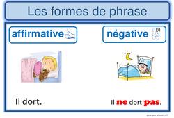 Formes de phrases  – Ce1 – Ce2 – Affiche pour la classe