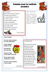 Poésies pour la rentrée scolaire – Lecture – Cycle 2 – Cycle 3