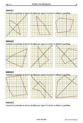Symétrie et quadrillages – 6ème – Exercices corrigés – Mathématiques – Géométrie – Collège – Soutien scolaire
