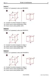Représentation dans l'espace - 6ème – Exercices corrigés – Mathématiques - Géométrie – Collège – Soutien scolaire