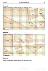 Aires et quadrillage - 6ème – Exercices corrigés – Mathématiques – Collège – Soutien scolaire