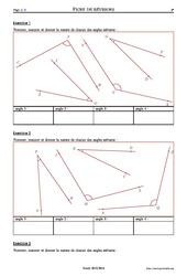 Mesurer des angles – 6ème – Exercices corrigés – Mathématiques – Collège – Soutien scolaire