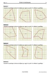 Symétrie centrale – 5ème – Exercices corrigés – Mathématiques – Collège – Soutien scolaire