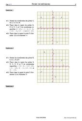 Repérage – 5ème – Exercices corrigés – Mathématiques – Collège – Soutien scolaire