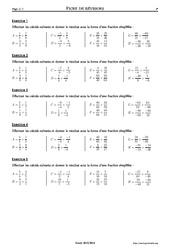 Produits et quotients de fractions - 4ème – Exercices corrigés – Mathématiques – Collège – Soutien scolaire