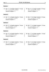 Théorème de Pythagore - 4ème – Exercices corrigés – Mathématiques – Collège – Soutien scolaire