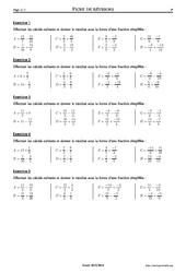 Sommes de fractions - 4ème – Exercices corrigés – Mathématiques – Collège – Soutien scolaire