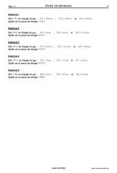 Réciproque du théorème de Pythagore - 4ème – Exercices corrigés – Mathématiques – Collège – Soutien scolaire