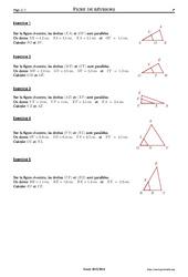 Exercice Theoreme De Thales 4eme