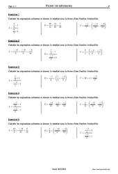 Fractions – 3ème – Exercices corrigés – Mathématiques – Collège – Soutien scolaire