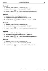 Plus grand commun diviseur – PGCD – 3ème – Exercices corrigés – Mathématiques – Collège – Soutien scolaire