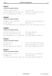 Factorisations – 3ème – Exercices corrigés – Mathématiques – Collège – Soutien scolaire