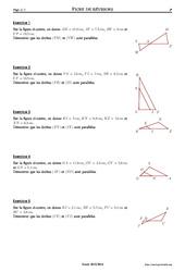 Réciproque du théorème de Thalès – 3ème – Exercices corrigés – Mathématiques –  Géométrie – Collège – Soutien scolaire